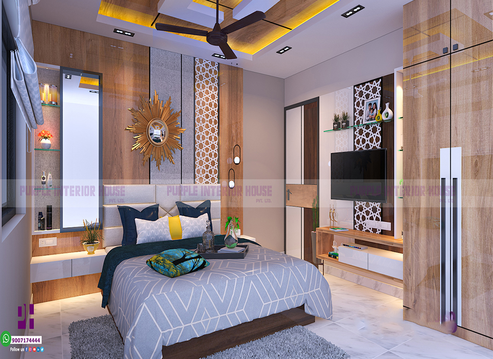 Bed room interior design in Kolkata
